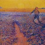 后印象派 荷兰 梵高 收工的农夫