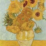 后印象派 荷兰 梵高 瓶中的十二朵向日葵
