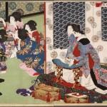 浮世绘 日本 月岡芳年 越田宫酒宴图