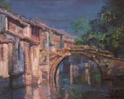 斜阳中的石桥