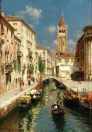 Gondolas on a Venetian backwater